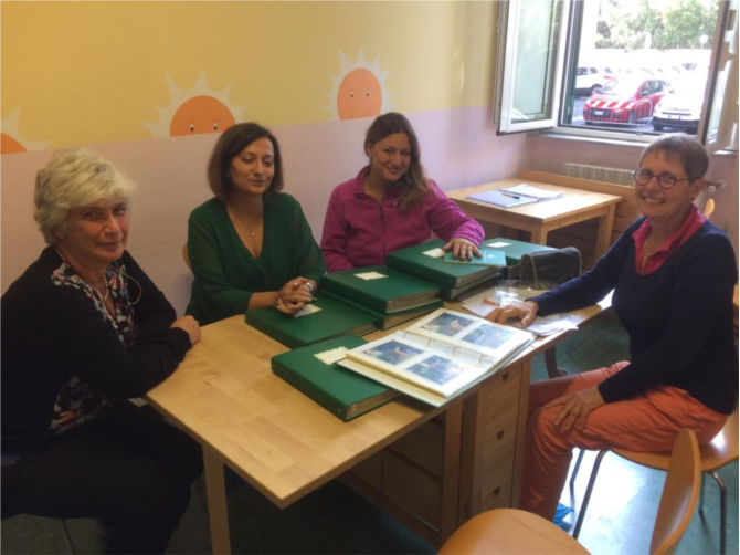 Avec Caterina, Margherita, Silvia, Sara et Laora